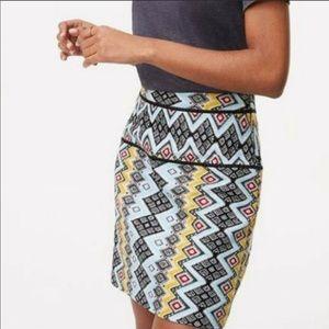 Ann Taylor | Tribal Print Skirt | sz 14